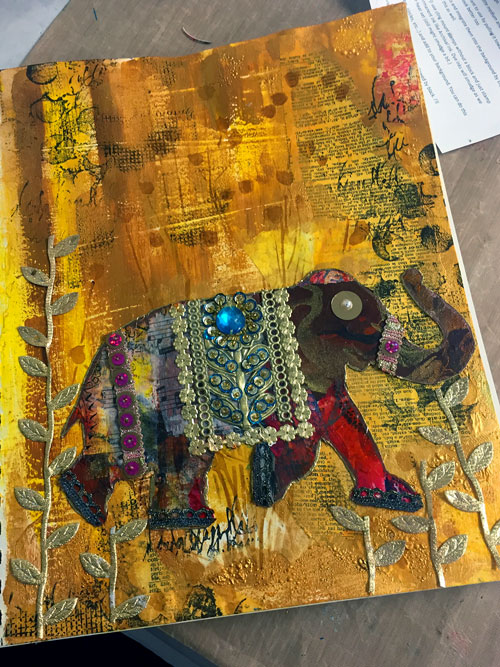 Boho Art Journaling with Stencils & Stamps | Gwen Lafleur