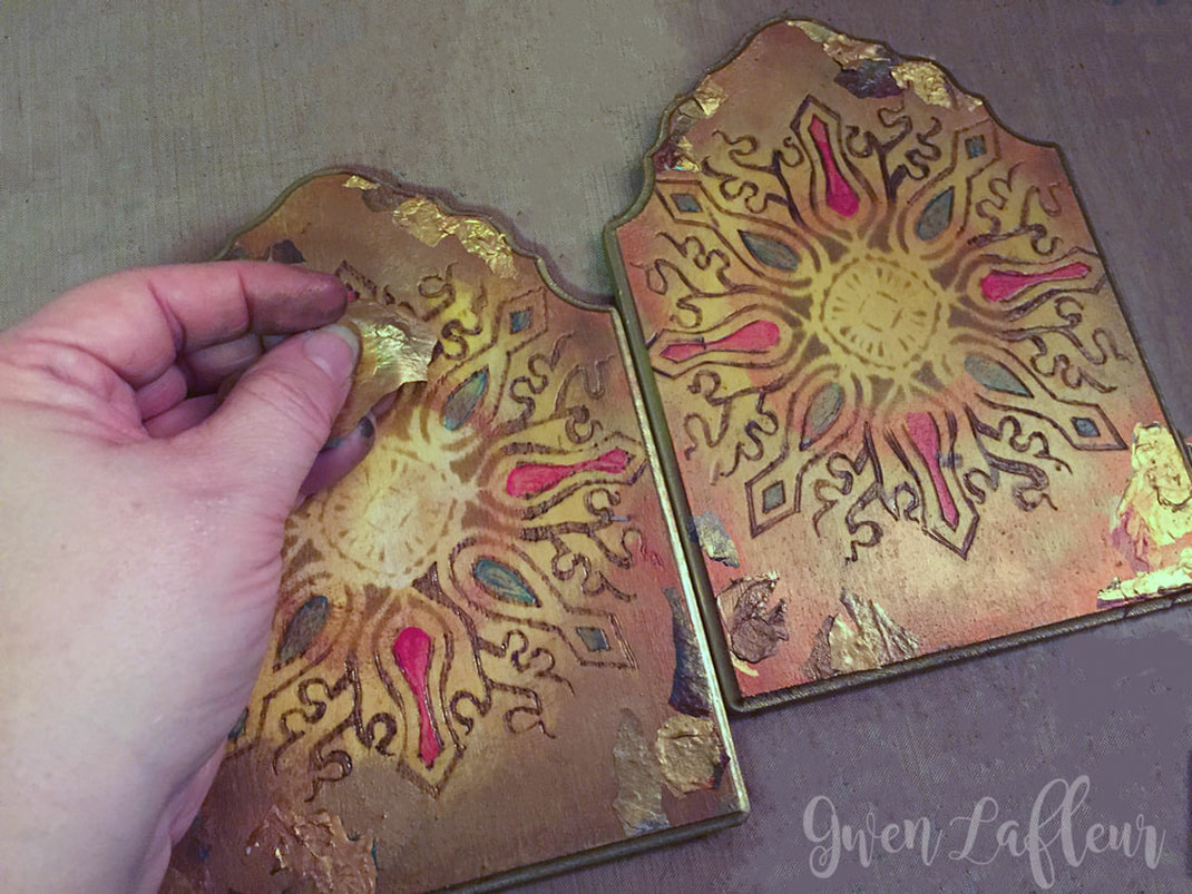 Stenciled and Wood Burned Diptych Photo Frame Tutorial Step 6 | Gwen Lafleur