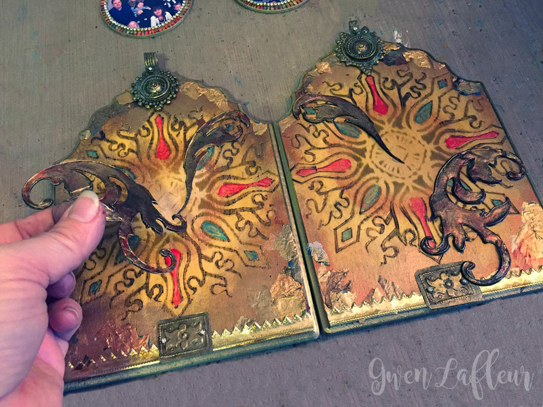Stenciled and Wood Burned Diptych Photo Frame Tutorial Step 8 | Gwen Lafleur
