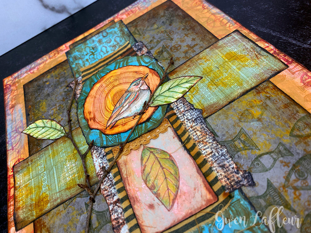 A New Day - Mixed Media Art Closeup - Gwen Lafleur