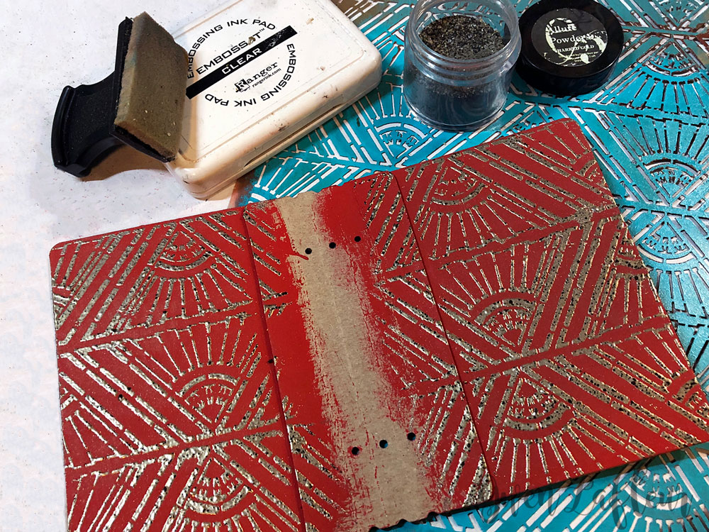 Embossed Mini Winter Art Journal Tutorial Step 8 | Gwen Lafleur