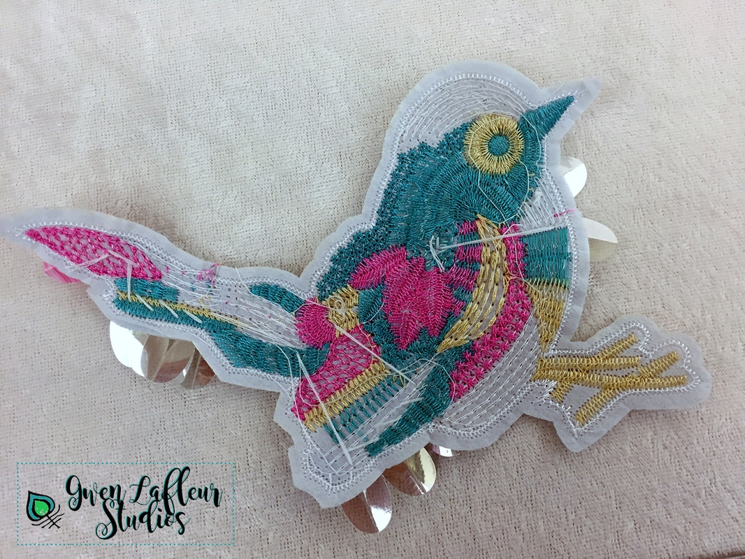Birds of a feather bird and feather appliques gwen lafleur studios