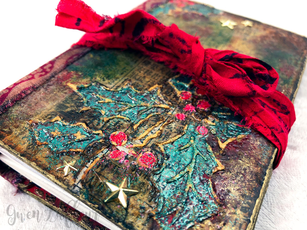 Embossed Mini Winter Art Journal | Gwen Lafleur