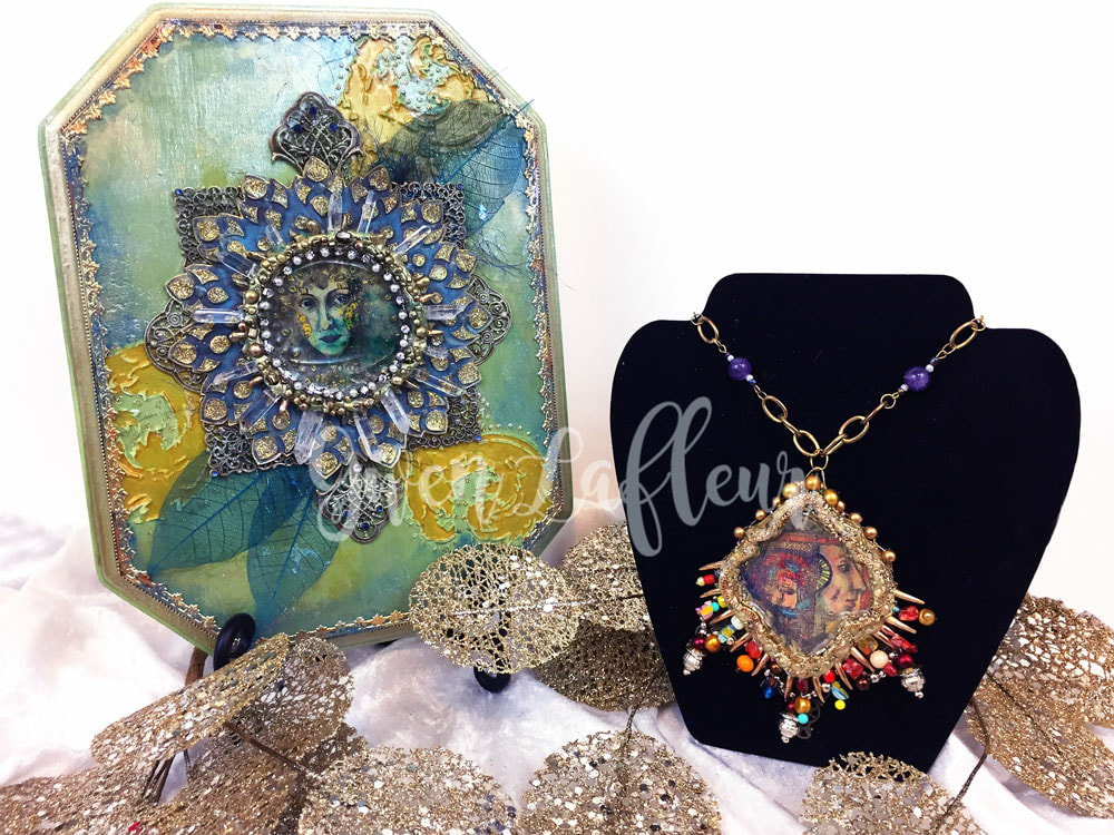 Mixed Media Medallions with StencilGirl & PaperArtsy | Gwen Lafleur