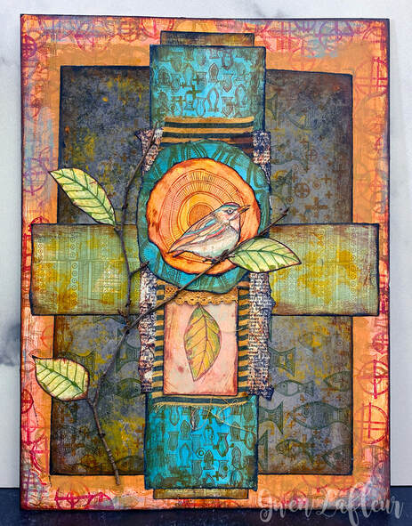 A New Day - Mixed Media Artwork by Gwen Lafleur
