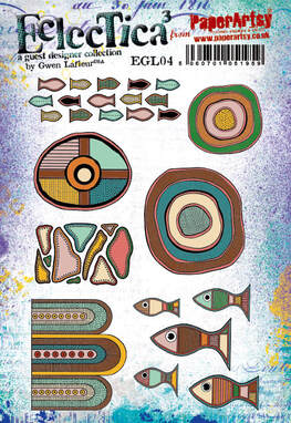 EGL04 - Aboriginal Inspired Rubber Stamp Set by Gwen Lafleur for PaperArtsy