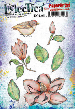 EGL05 - Southern Magnolias Rubber Stamp Set by Gwen Lafleur for PaperArtsy