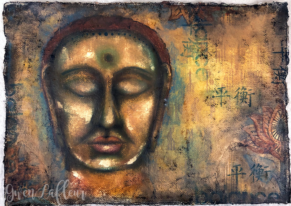 Serenity Now - Mixed Media Artwork by Gwen Lafleur